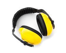 Ear muff , For noise protection ear - stock photo