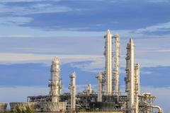 Petroleum plant with sky - stock photo