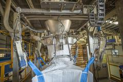 Big bag of chemical powder - stock photo