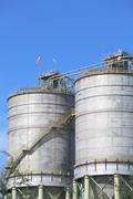 Chemical powder silo - stock photo