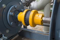 Stock Photo of Rubber coupling during motor and pump