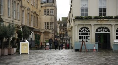Traditional English pub in Bath, England, Europe Stock Footage