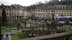 Parade Gardens in Bath, England, Europe Stock Footage