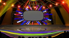Studio 166 Angle B Game Show Concert Stage with Animated Lights Stock Footage