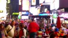 People City Street Times Square Blurred Motion Crowd Manhattan New York USA - stock footage