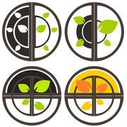 Stock Illustration of Nature tree symbol illustration