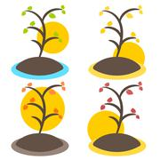 Nature tree symbol illustration Stock Illustration