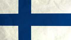 Finnish flag waving in the wind (full frame footage) Arkistovideo