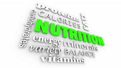 Nutrition Fitness Healthy Lifestyle Wellness Word Collage Stock Footage