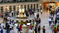 New York Grand Central Station City Footage Clock Tourists Famous Manhattan Stock Footage
