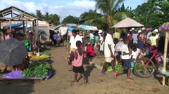 Market in madagascan village in afternoon Stock Footage
