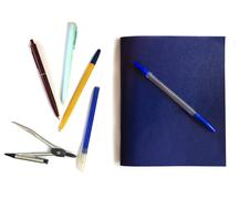School isolated Supplies - stock photo