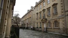 Establishing shot of Bath, England, Europe Stock Footage