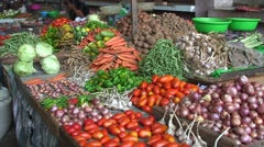 Vegetable in market well sorted Stock Footage
