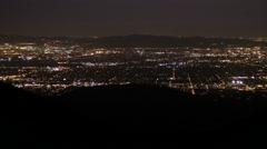 Medium night view of east los angeles Stock Footage