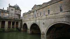 Bath, Pulteney Bridge, England, Europe Stock Footage