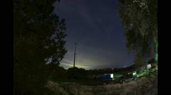 Crazy night sky texas time lapse, hyper lapse, Stock Footage