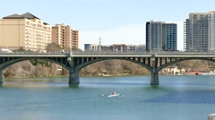 bridge in austin texas - stock footage
