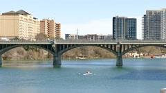 Bridge in austin texas Stock Footage