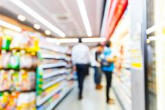 Blurred convenience store - stock photo