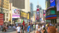 New York Busy City Street Times Square Manhattan USA Busy Traffic Footage Road Arkistovideo