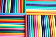 Abstract color patterns, color pencils Stock Photos