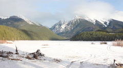 Mission Mountains McDonald Lake Winter - stock footage