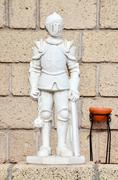 Statue of a Medieval Knight Stock Photos