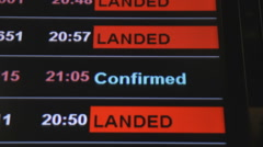 Flight confirmed on board Stock Footage