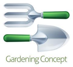 Stock Illustration of Gardening Tools Concept
