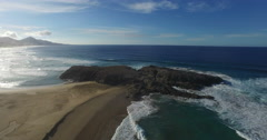 4k aerial footage of the beach of Cofete in Spain. Stock Footage