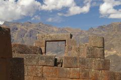 Inca ruins in Pisac Stock Photos