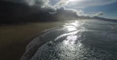 4k aerial shot of the beach of Cofete in Fuerteventura. Spain. Stock Footage