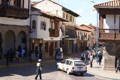 Cusco city street Stock Photos