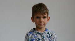 boy 5 years old - stock footage