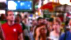 People City Street Crowd Manhattan New York USA Tourism Pedestrians Timelapse - stock footage