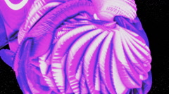 Violet Abstract form generated in a dynamic movement Stock Footage