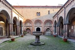 Cloister of Santo Stefano - stock photo