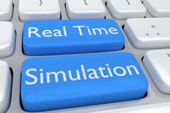 Real Time Simulation concept Stock Illustration