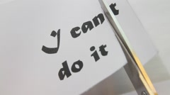 I can, self motivation Stock Footage