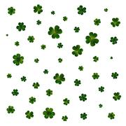 Green clovers on white, decoration for St Patricks day Stock Illustration