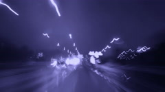 Night driving in Stockholm City - stock footage