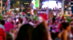 Blurred Motion People City Street Times Square Crowd Manhattan New York USA - stock footage