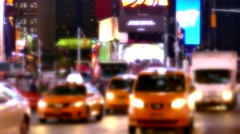 New York City Street Illuminated Manhattan Night USA Footage Busy Traffic Stock Footage