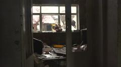 Abandoned home. Rain Inside the Room Stock Footage