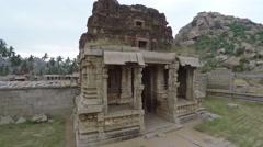 Hampi. Achutaraya Temple. Gopuram. Stock Footage