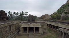 Hampi. Achutaraya Temple. Structure. Stock Footage
