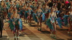 Sitges Carnival 2016 Stock Footage
