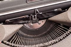 Details on antique typewriter Stock Photos