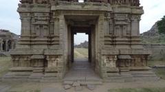 Hampi. Achutaraya Temple. Gopura. Stock Footage